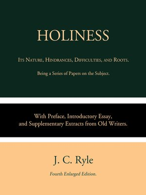 cover image of Holiness