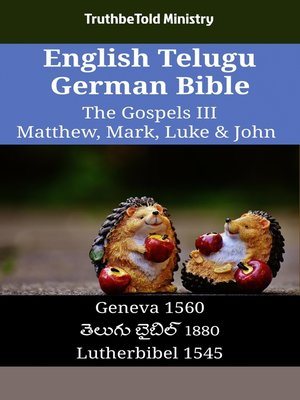cover image of English Telugu German Bible - The Gospels III - Matthew, Mark, Luke & John