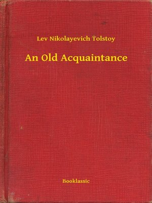 cover image of An Old Acquaintance