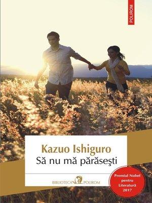 cover image of Să nu mă părăseşti