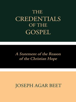 cover image of The Credentials of the Gospel