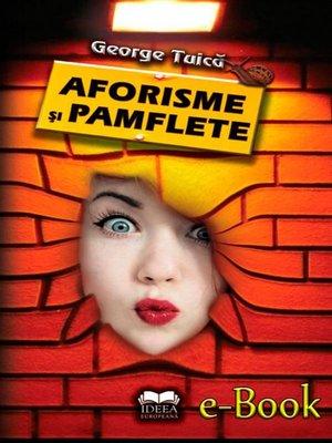 cover image of Aforisme și pamflete