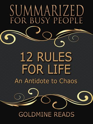 cover image of 12 Rules for Life--Summarized for Busy People