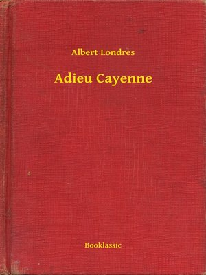 cover image of Adieu Cayenne