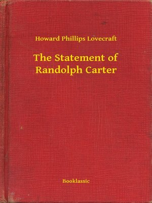 cover image of The Statement of Randolph Carter