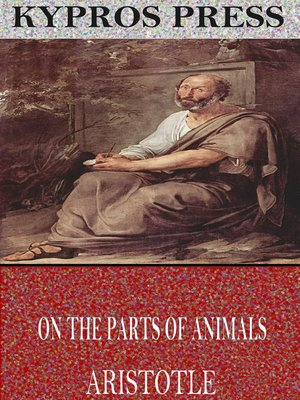 cover image of On the Parts of Animals