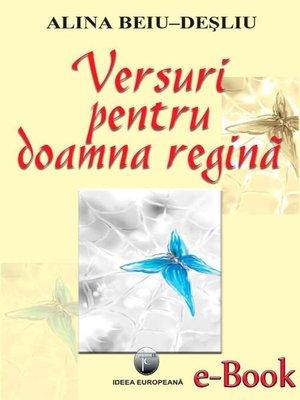 cover image of Versuri pentru doamna regină
