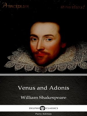 cover image of Venus and Adonis by William Shakespeare