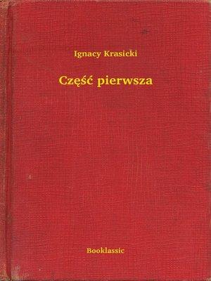 cover image of Część pierwsza