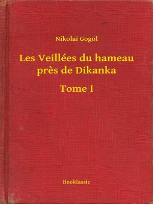 cover image of Les Veillées du hameau près de Dikanka--Tome I