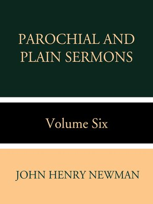 cover image of Parochial and Plain Sermons Volume Six