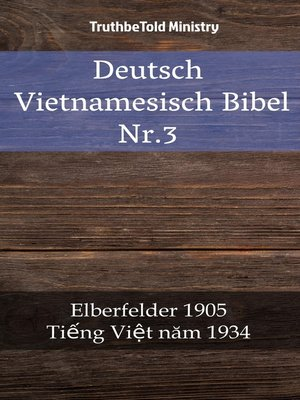 cover image of Deutsch Vietnamesisch Bibel Nr.3