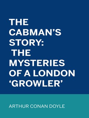cover image of The Cabman's Story