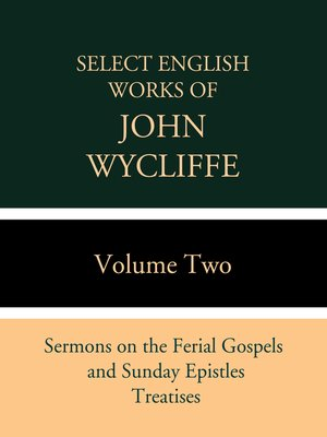 cover image of Select English Works of John Wycliffe