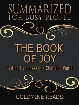 cover image of The Book of Joy - Summarized for Busy People