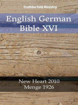 cover image of English German Bible XVI