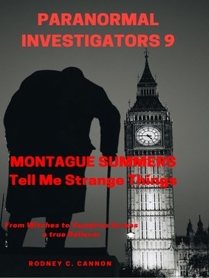 cover image of Paranormal Investigators 9 Montague Summers