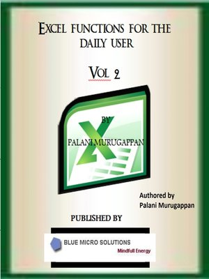 cover image of Excel Functions For The Daily User Vol 2