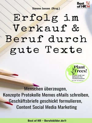cover image of Erfolg im Verkauf & Beruf durch gute Texte