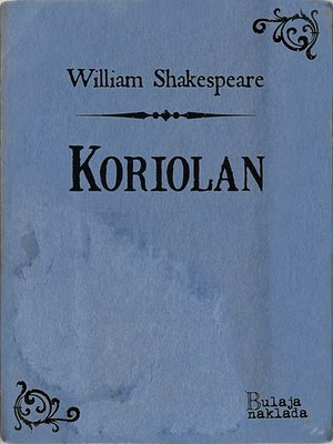cover image of Koriolan