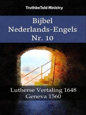 cover image of Bijbel Nederlands-Engels Nr. 10