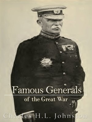 cover image of Famous Generals of the Great War