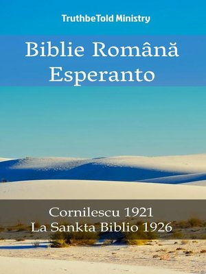 cover image of Biblie Română Esperanto