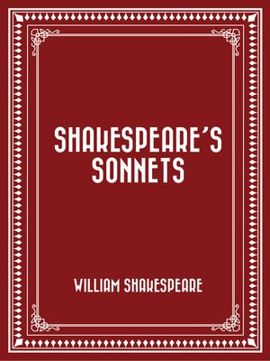 cover image of Shakespeare's Sonnets