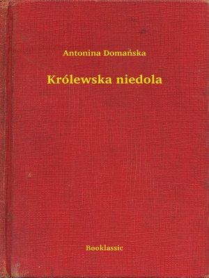 cover image of Królewska niedola