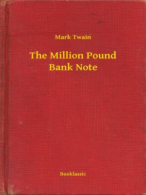 cover image of The Million Pound Bank Note