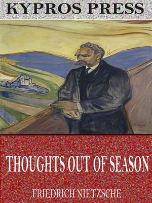 cover image of Thoughts out of Season