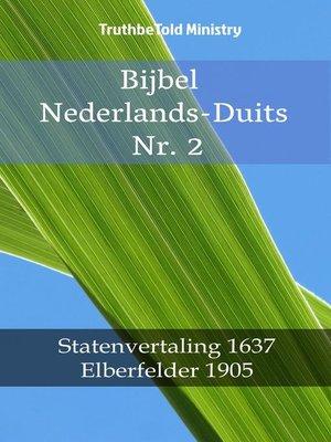 cover image of Bijbel Nederlands-Duits Nr. 2