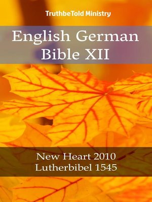 cover image of English German Bible XII