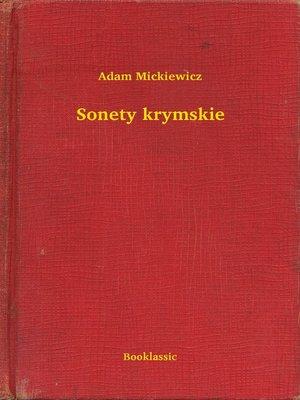 cover image of Sonety krymskie