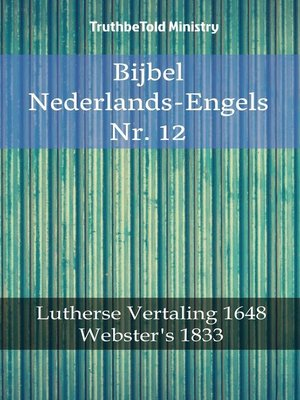 cover image of Bijbel Nederlands-Engels Nr. 12