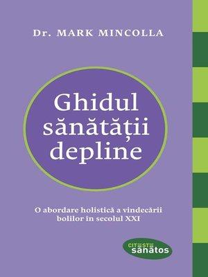 cover image of Ghidul sănătății depline