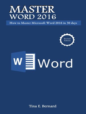 cover image of Master Microsoft Word 2016