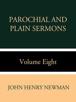 cover image of Parochial and Plain Sermons Volume Eight