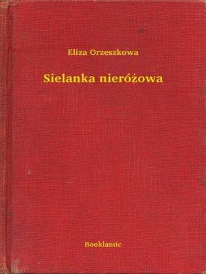 cover image of Sielanka nieróżowa