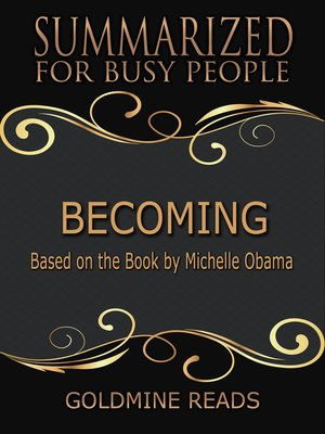 cover image of Becoming - Summarized for Busy People