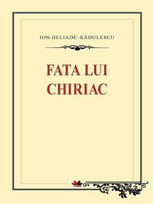 cover image of Fata lui Chiriac
