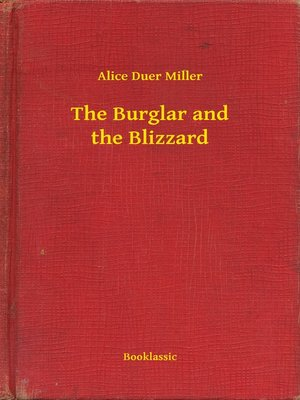 cover image of The Burglar and the Blizzard