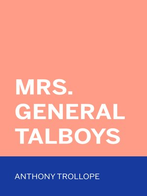 cover image of Mrs. General Talboys