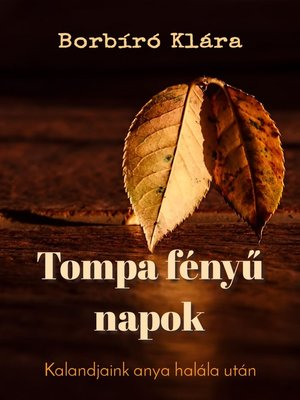 cover image of Tompa fényű napok