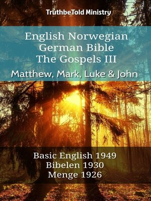 cover image of English Norwegian German Bible--The Gospels III--Matthew, Mark, Luke & John