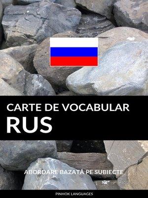 cover image of Carte de Vocabular Rus