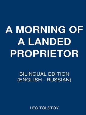 cover image of A Morning of a Landed Proprietor