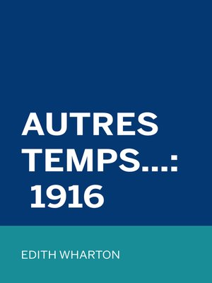cover image of Autres Temps...