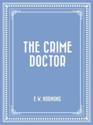 cover image of The Crime Doctor