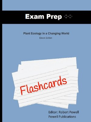 cover image of Exam Prep Flashcards for Plant Ecology in a Changing World